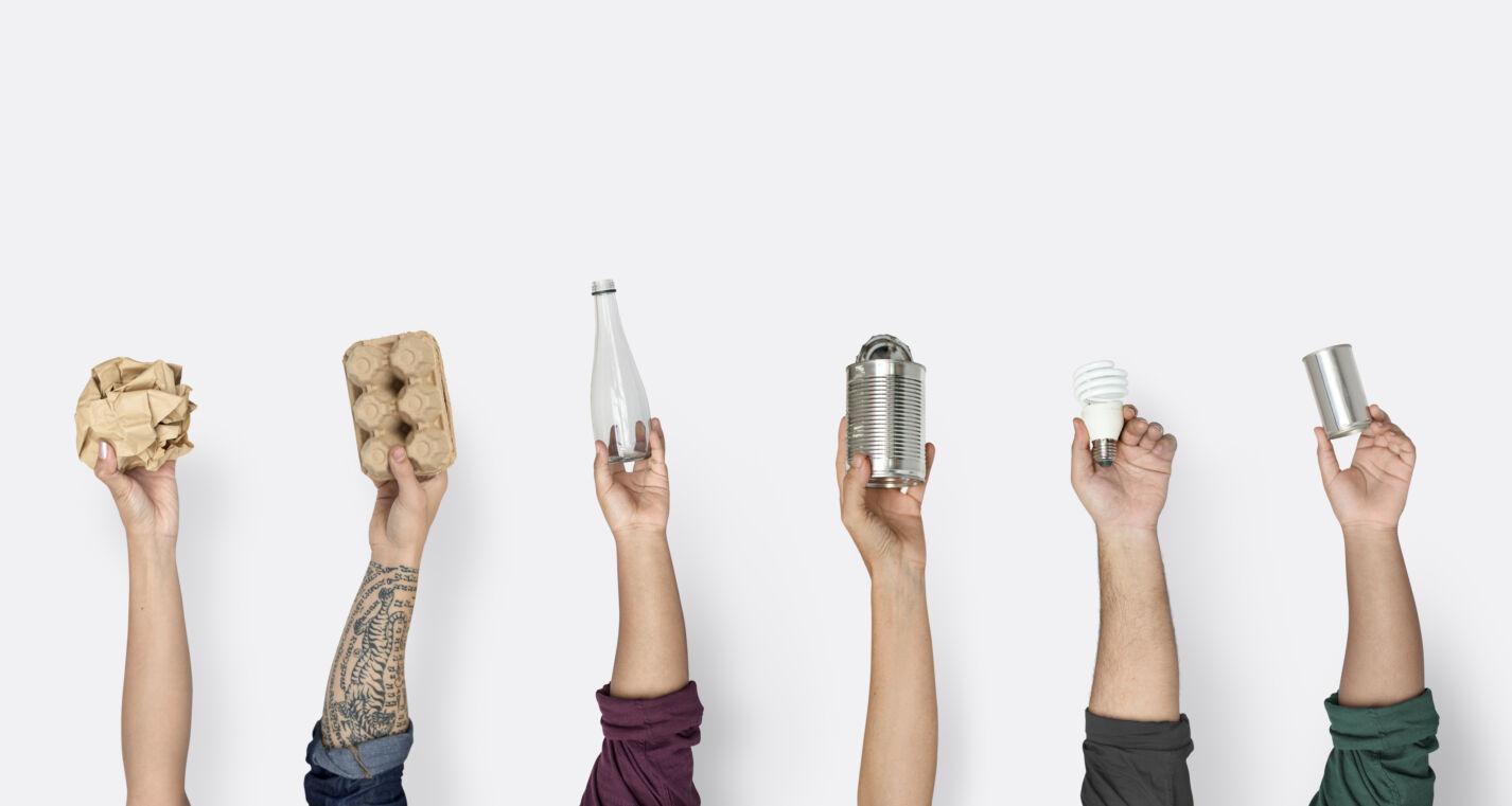 Handen verpakkingen